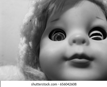 creepy doll smile