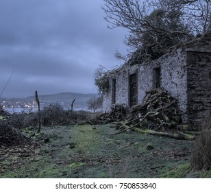 The creepy looking ferry house on Bute, just before dawn