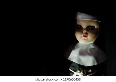 creepy nun doll look terrible in high concept