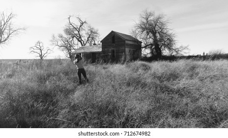 Creepy Old House With Girl