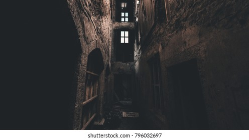 Creepy picture in an abandoned hospital