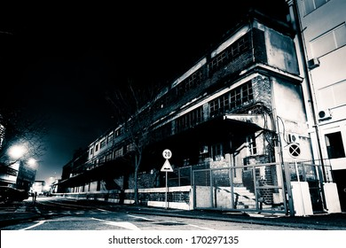 Creepy Street at Night