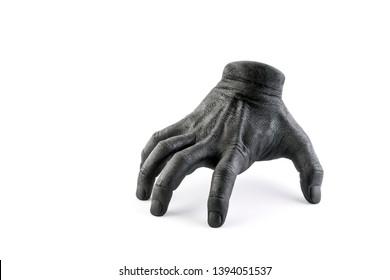 Creepy walking hand isolated on white background