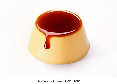 Creme caramel , Caramel custard , Custard pudding