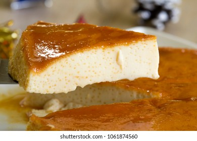 Creme caramel or caramel pudding is a custard dessert with a layer of soft caramel on top.