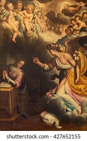 CREMONA, ITALY - MAY 25, 2016: The Annunciation paint in church Chiesa di San Vincenzo by Gervasio Gatti (1550 - 1631).