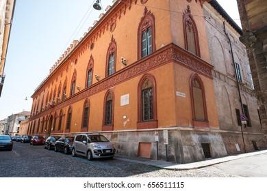CREMONA, ITALY - MAY 27, 2017: The Trecchi Palace