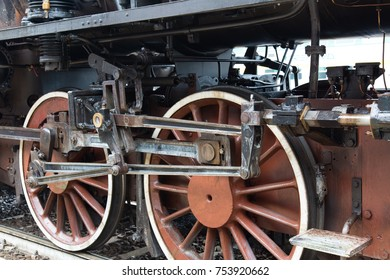 Cremona - November 12, 2017: Historical steam train from Milan to Cremona arriving at the station. Cremona, Italy.