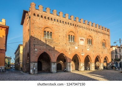 CREMONA,ITALY - SEPTEMBER 26,2018 - View at the building of Palace Cittanova in the streets of Cremona. Cremona is a city and comune situated in Lombardy in northern Italy.
