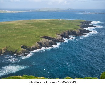 Crenallated coastline of geos on Garths Ness, near Fitful Head, South Shetland. The bedrock is part of the Neoproterozoic Metamorphosed Mafic and Ultramafic Minor Intrusion Suite Of Shetland.