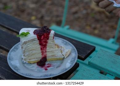 Crepe Cake Recipe Blueberries
