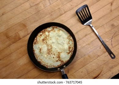 Crepe In a Frying Pan