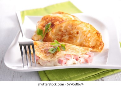 crepe with ham and cheese cream
