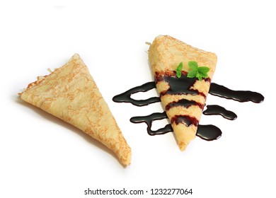 crepe with jam and chocolate
