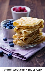 Crepes with Berries.  Pancake
