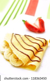 crepes with fruit and chocolate