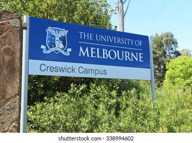CRESWICK, VICTORIA, AUSTRALIA - October 23, 2015: The University of Melbourne's Creswick campus, formerly the School of Forestry, became part of the University in 1980