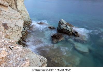 Cretan Sea and rocks