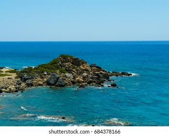Cretan wild coastline and countryside