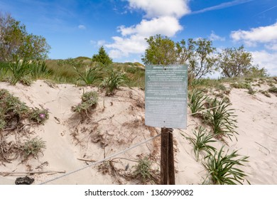 CRETE, GREECE - May 2, 2015: Scenery of desert at the reserve zone with sand dunes on Elafonisi beach, Greece
