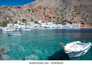 Crete, greek village of Loutro