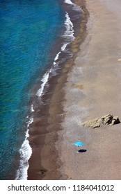 CRETE ISLAND, GREECE. Agios Pavlos beach to the south of Rethymno prefecture.