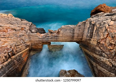 CRETE ISLAND, GREECE. Ancient fish tank at Kakia Skala, between Koutsounari &  Ferma villages, very close to Kakkos Bay Hotel, Ierapetra Municipality, Lasithi prefecture.