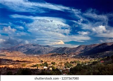 CRETE ISLAND, GREECE. View of Lasithi plateau.