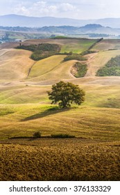 Crete Senesi characteristic landscape in province of Siena (Tuscany, Italy)