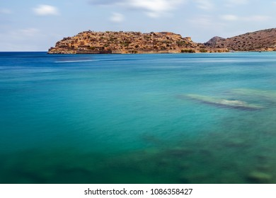 Crete/Greece - May 8th 2018: View of the Spinalonga Island
