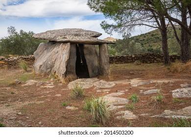 Creu d'En Cobertella Dolmen, Megalithic Tomb in Roses, Alt Empodra, Catalonia - Shutterstock ID 2014503200