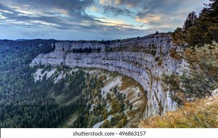 Creux du Van rocky cirque, Neuchatel canton, Switzerland