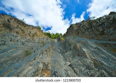 Crevice on Apennines Mountains