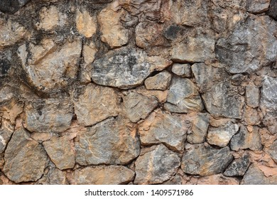 Crevice on the stone wall