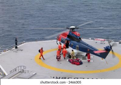 Crew change offshore
