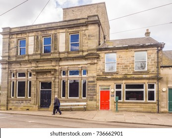 Crich, Matlock, Derbyshire. 5th April 2017. Traditional vintage  building at Crich tramway museum, Crich, Matlock, Derbyshire, UK
