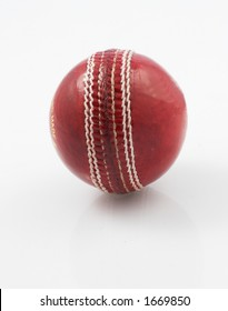 Cricket ball close up