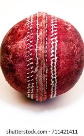 Cricket Ball Closeup of a cricket ball.