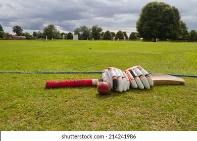 Cricket on the English village green.