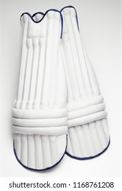 Cricket pads on white background