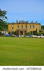 Cricket St Thomas, Somerset / England - 7/21/2019: Cricket House is a small former country manor house,  now occupied as a hotel. The setting for TV Sitcom 'To the Manor Born'.