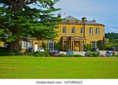 Cricket St Thomas, Somerset / England - 7/21/2019: Cricket House is a small former country manor house,  now occupied as a hotel.The setting for TV Sitcom 'To the Manor Born'.