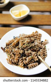 Crickets, Onions, Garlic, Lemon, and Cricket Pasta in a Picatta Sauce