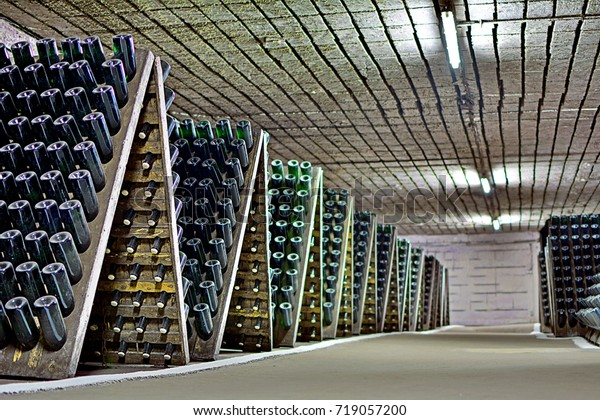CRICOVA, MOLDOVA - SEPTEMBER 2 - Famous Cricova winery with 120 km of underground passages for wine storage on September 2, 2017 in Cricova Winery, Moldova (Moldavia)