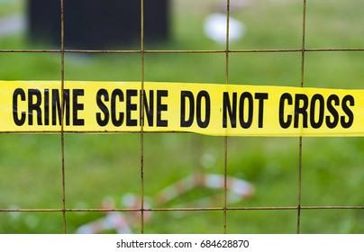 Crime scene do not cross, sign