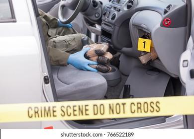 Crime scene: drug smuggling