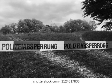 Crime scene identification in German