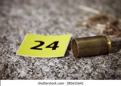 Crime scene investigation - cartridge as evidence