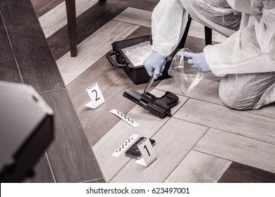 Crime scene investigation - collecting evidence from the crime scene