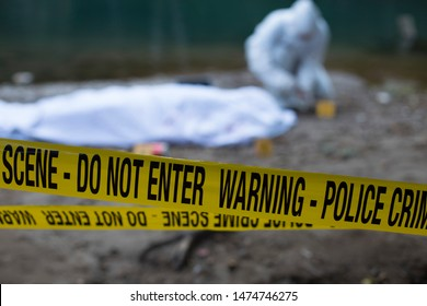 Crime scene investigation - working with evidence on place of crime